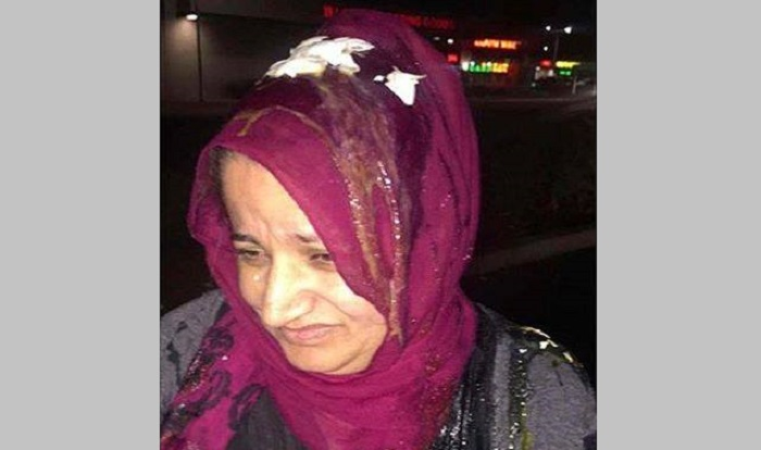 Muslim mother pelted with eggs