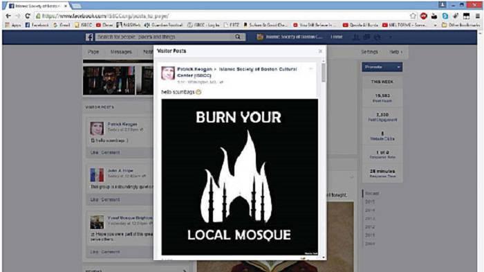 Patrick Keogan's Facebook threat