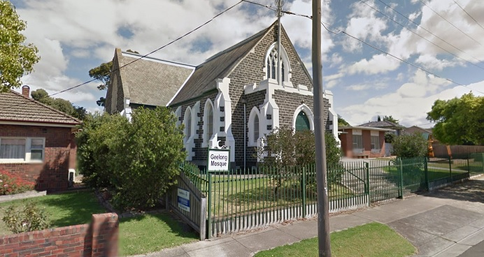 Geelong Mosque before the blaze, Google Street View