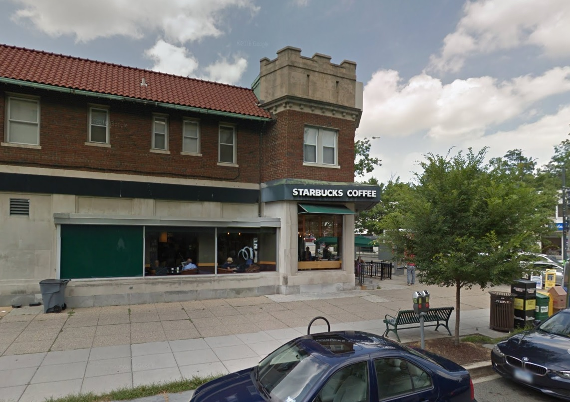 The Starbucks where the assault occurred, Google Street View