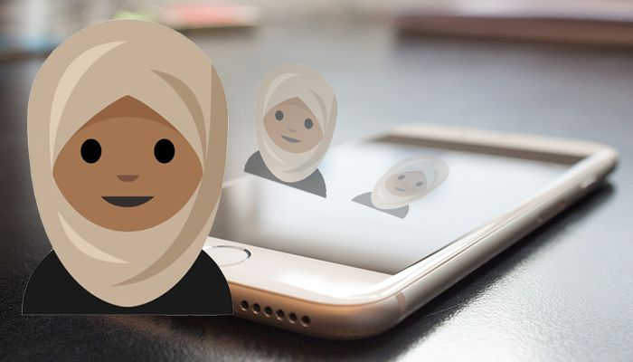 hijab emoji iphone