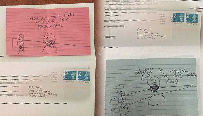Muslim Slayer's threatening letters